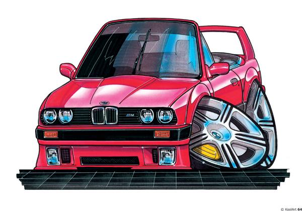 BMW E30 Decapotable Rouge