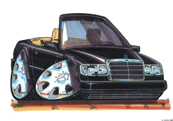 Mercedes E220 Cabriolet Noire