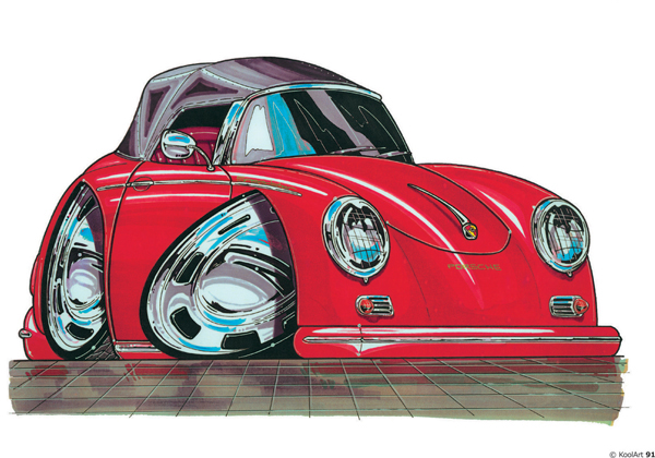 Porsche 356 Cabriolet Rouge