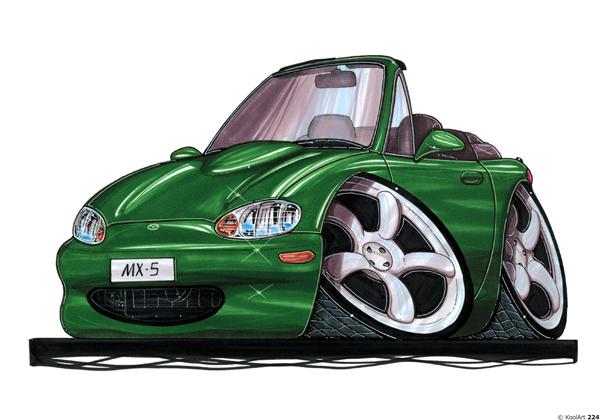 Mazda MX5 Décapotable Verte