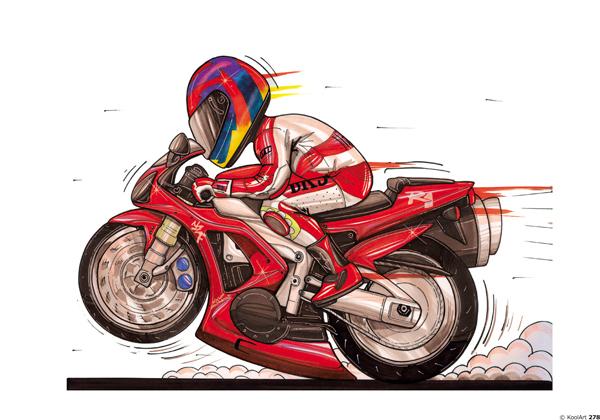Yamaha R1 Moto Rouge