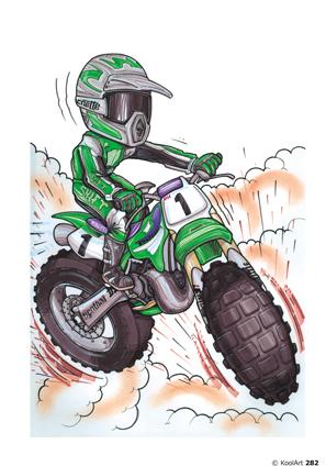 Kawasaki KX Moto Cross Verte