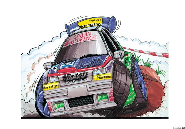 Renault Clio rallyeeee Blanche