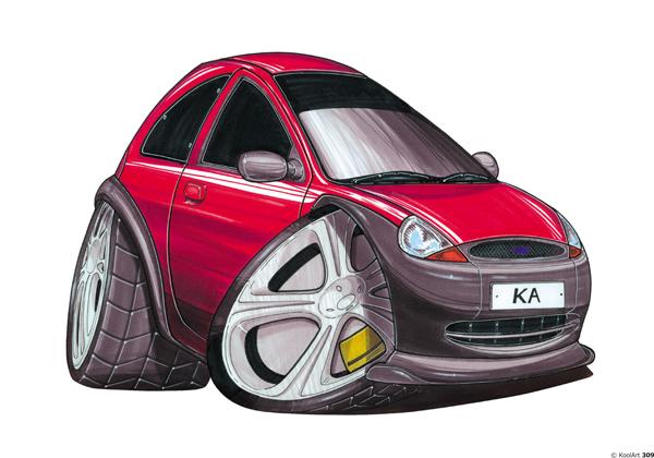 Ford Ka Simple Rouge