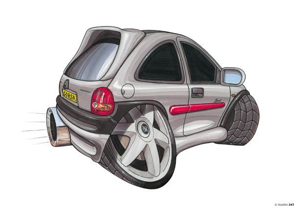 Opel Corsa Grise