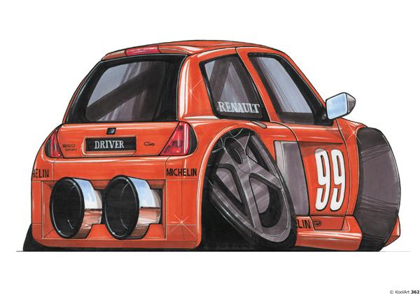 Renault Clio V6 Tunning Orange