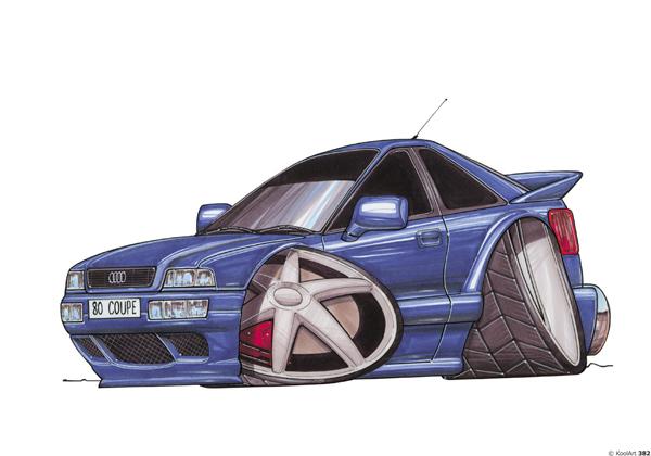 Audi 80 Coupée Bleue