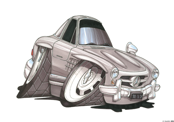 Mercedes 300 SL Grise