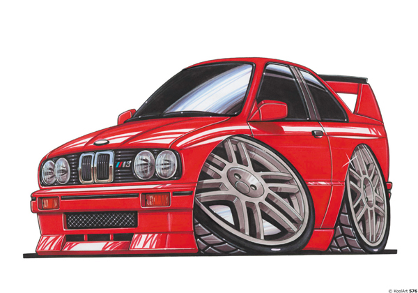 BMW E30 Rouge