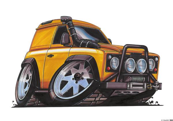 Land Rover Defender Orange