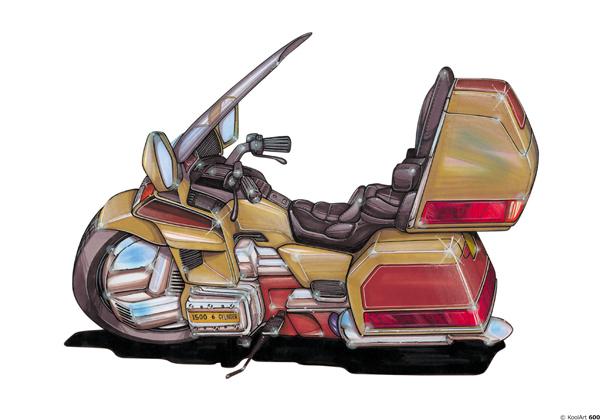 Honda Goldwing Beige