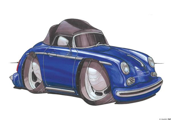 Porsche 356 Vintage Bleue