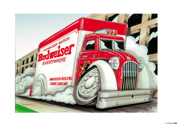 Camion Budweiser Rouge