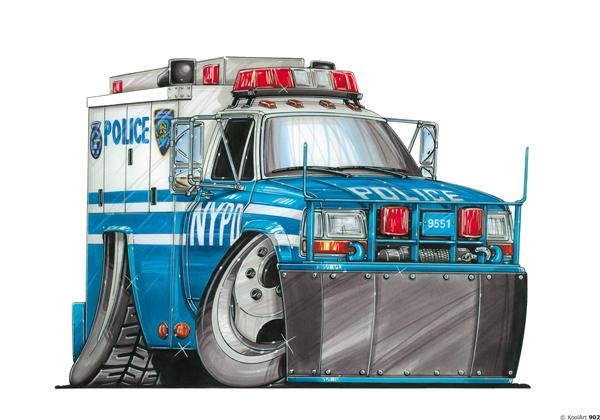 Fourgon Police US
