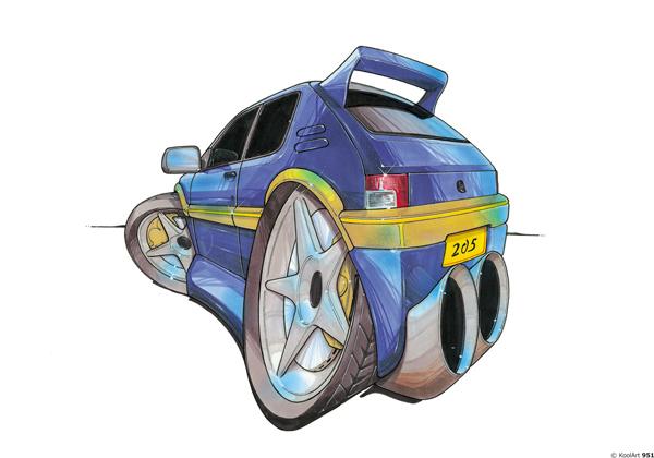 Peugeot 205 GTI Bleue