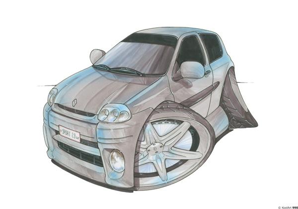 Renault Clio 16V Grise