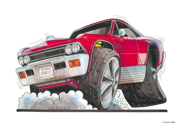 Chevrolet Chevelle US Rouge
