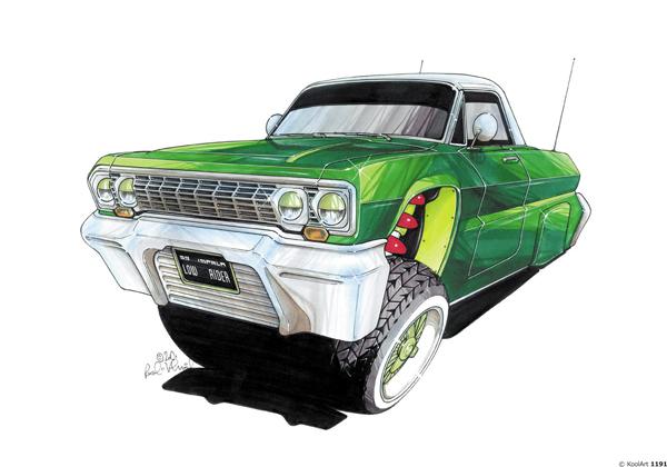 Chevrolet Impala 53 Vert