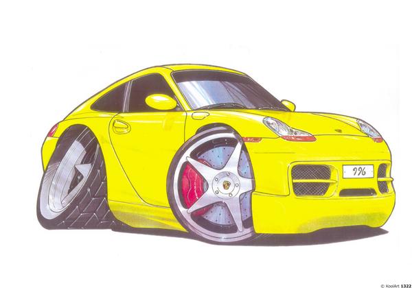 Porsche 996 Jaune