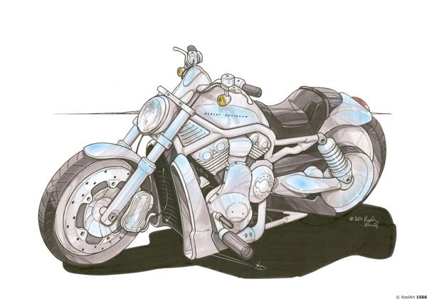 Harley Davidson V Rod Grise