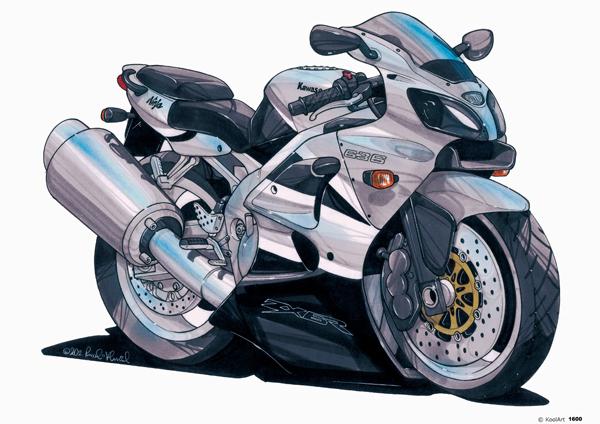 Kawasaki ZX6R Grise