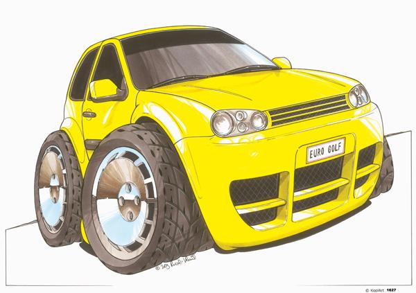 Volkswagen Golf Jaune