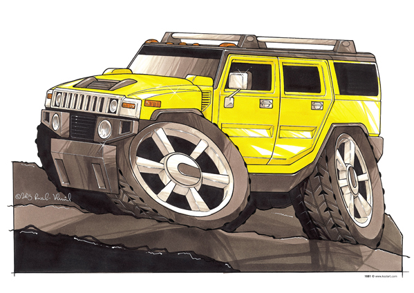 Hummer H3 Jaune