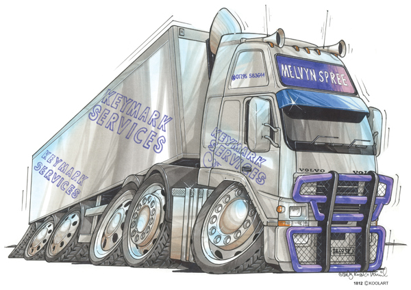 Camion Volvo Truck Gris