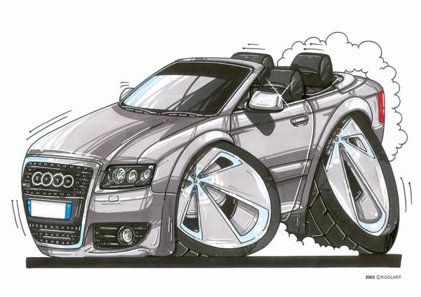 Audi A8 Cabriolet Grise