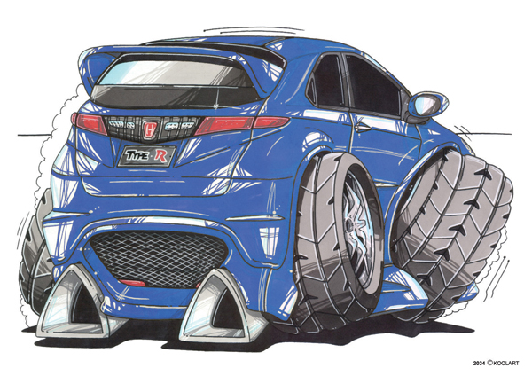 Honda Civic Type R Bleue