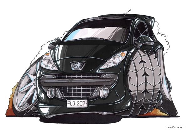 Peugeot 207 Noire