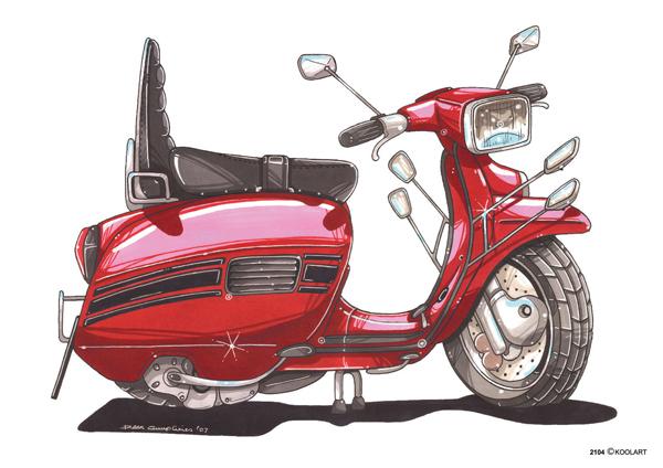 Scooter Lambretta LI Rouge