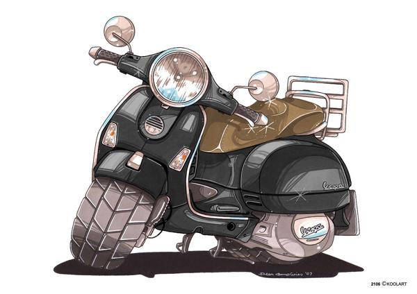 Scooter Vespa LX Noir