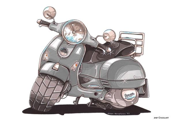 Scooter Vespa LX Gris