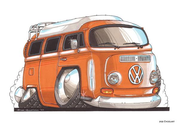 Volkswagen Combi Orange