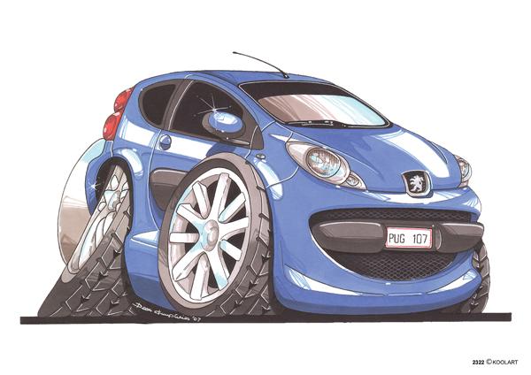 Peugeot 107 Bleue