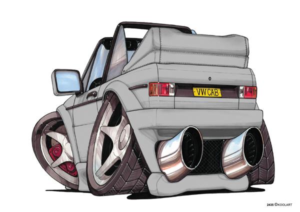 VW Golf Cabriolet Grise