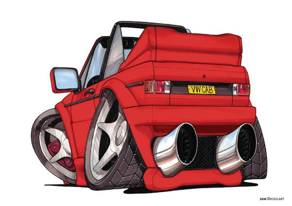 VW Golf Cabriolet Rouge