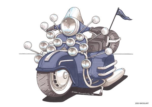 Scooter Vespa 150 GS Bleu