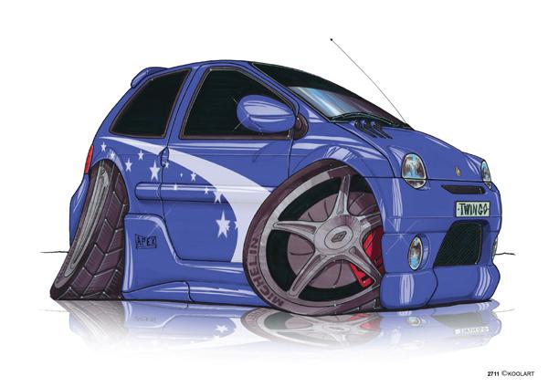 Renault Twingo Tunning Bleue