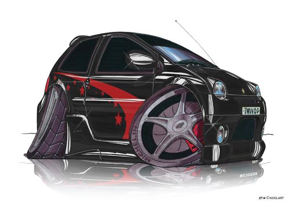 Renault Twingo Tunning Noire