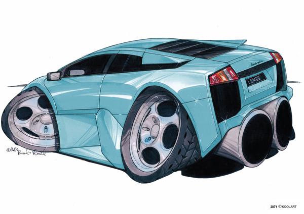 Lamborghini Murcielago Bleue