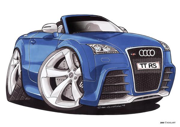 Audi TT Cabriolet Bleue