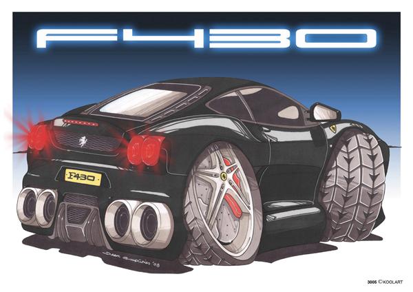Ferrari F430 Arriere Noire