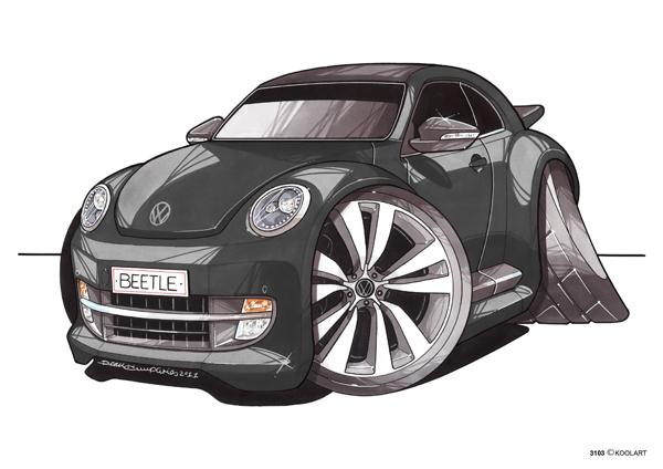 VW Beetle Noire