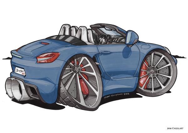 Porsche Boxster S Bleue