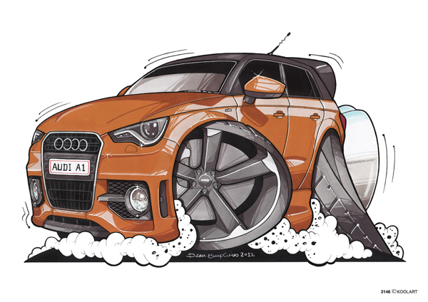 Audi A1 Orange