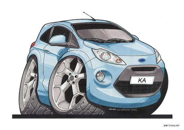 Ford Ka Bleue