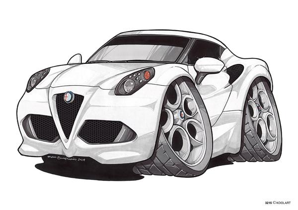 Alfa Roméo 4C Blanche