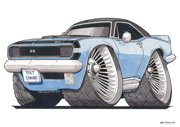 Chevrolet Camaro SS Bleue 1967